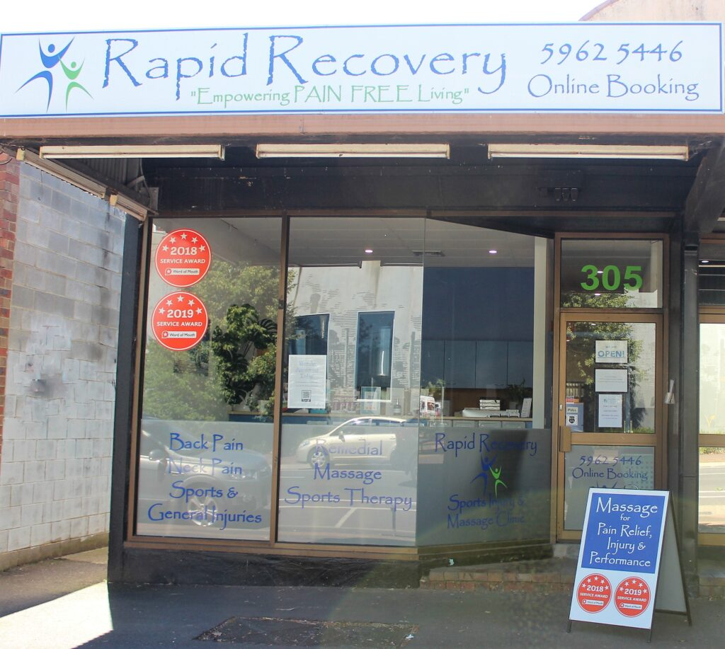 Rapid Recovery Sports Injury & Massage Clinic in Healesville